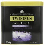 Twinings Earl Grey Light & Fragrant Loose Tea - 500g Tin