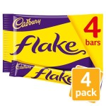 Cadbury Milk Chocolate Flake 4 x 20g Pack