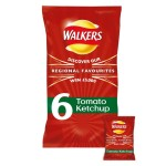 Walkers Tomato Ketchup Crisps 25g x 6 per pack