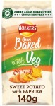 Walkers Baked Sweet Potato with Paprika Snacks 140g