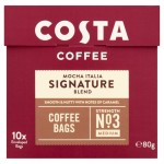Costa Signature Blend Coffee Bags 10 per pack