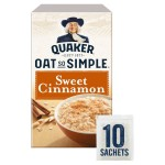 Quaker Oat So Simple Sweet Cinnamon 10 x 33g