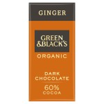 Green & Black's Dark Chocolate With Ginger Bar 100g