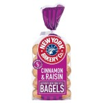 NY Bagel Co. Cinnamon & Raisin Bagels 5 per pack