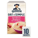 Quaker Oat So Simple Strawberry, Raspberry & Cranberry 10 x 33g