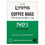 Lyons No3 Rich & Full Bodied Ground Coffee Bags 18 per pack