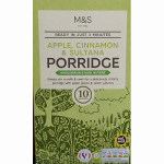 Marks & Spencer Apple, Cinnamon & Sultana Porridge 10 Sachets 360g
