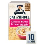 Quaker Oat So Simple Almond Butter & Pomegranate 10 x 33g