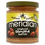 Meridian Crunchy Almond Butter 100% Nuts 170g