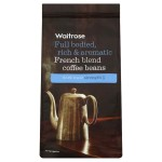 French Coffee Beans Waitrose Dark Roast Strength 5, 227g