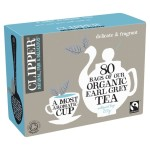 Clipper Fairtrade Organic Earl Grey Tea Bags 80 per pack