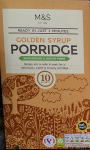 Marks & Spencer Golden Syrup Porridge 10 Sachets 360g