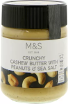 Marks & Spencer Crunchy Cashew Butter with Peanuts & Sea Salt 227g