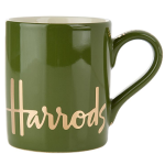 Harrods Green Ceramic Mug with Gold Logo