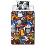 Star Wars Patch Style Reversible Duvet Set Size - Single