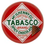 Tabasco Spicy Dark Chocolate Wedges in a tin 50g