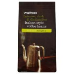 Rich Italian Coffee Beans Dark Roast Strength 5 Waitrose 227g
