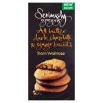 Seriously Gingery All Butter Dark Chocolate & Ginger Biscuits Waitrose 125g