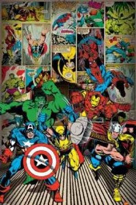 Children's Maxi Poster featuring The Superheroes of Classic Marvel Comics
