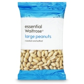 Waitrose large peanuts roasted & salted 500g
