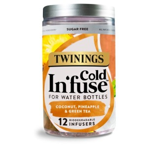 Twinings Cold In'fuse Coconut, Pineapple & Green Tea  12 Infusers