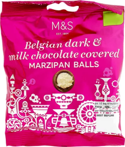 M&S Belgian Dark & Milk Chocolate Covered Marzipan Balls 95g