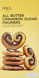 M&S All Butter Cinnamon Sugar Palmiers 100g