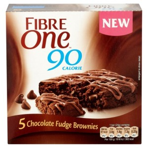 Fibre One 90 Calorie Chocolate Fudge Brownies 5 x 24g