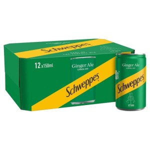 Schweppes Canada Dry Ginger Ale Mini Cans 12 x 150ml
