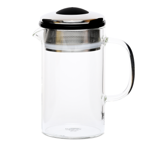 Brew Tea Co Borosilicate Glass Brew Tea Pot 400ml with Scoop - Various Colours