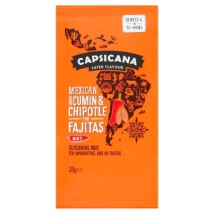 Capsicana Mexican Smoked Cumin & Chipotle Fajita Seasoning Mix 28g