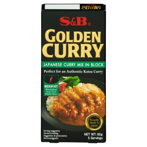 S&B Golden Curry Medium Hot Mix 92g