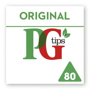 PG Tips Pyramid Tea Bags 80 per pack