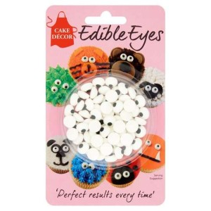 Cake Decor Sugar Shaped Edible Eyes 25g