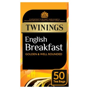 Twinings English Breakfast Tea Bags 50 per pack
