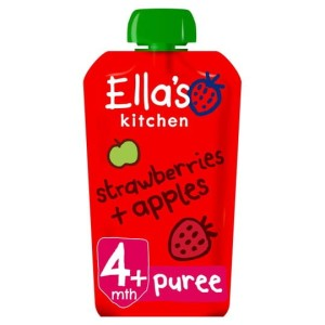 Ella's Kitchen Organic Strawberries & Apples Stage 1 120g
