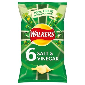 Walkers Crisps MultiPack Salt & Vinegar - 6x25g