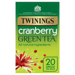 Twinings Cranberry Green Tea 20 per pack