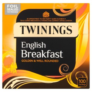 Twinings English Breakfast Tea Bags 100 per pack