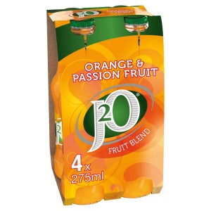 J2o Orange & Passionfruit 4 x 275ml bottle