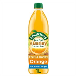 Robinsons Orange No Added Sugar Fruit & Barley 1L