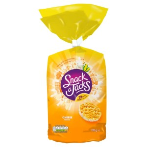 Snack a Jacks Jumbo Cheese Flavour Rice & Corn Cakes 120g