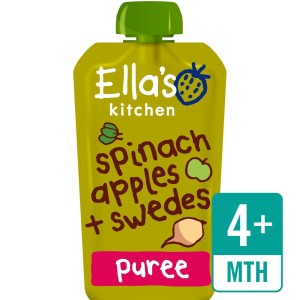 Ella's Kitchen Organic Spinach, Apples & Swede Stage 1 120g