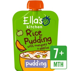 Ella's Kitchen Organic Rice Pudding with Mangoes & Apples Stage 2 80g