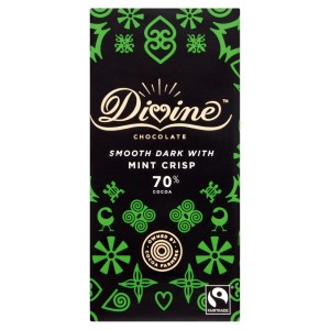 Divine 70% Dark Chocolate with Mint Crisp 90g