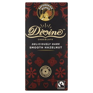 Divine Dark Chocolate with Smooth Hazelnut Bar 90g
