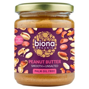 Biona Organic Peanut Butter Smooth 250g