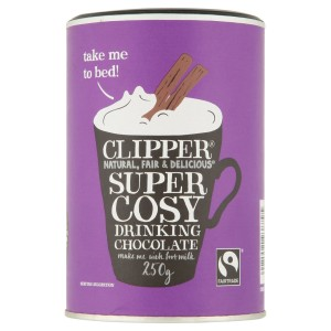 Clipper Fairtrade Super Cosy Drinking Chocolate 250g