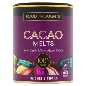 Food Thoughts Cacao Melts 100% Pure Dark Chocolate Discs 150g