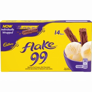 Cadbury Flake 99 Individually Wrapped 14 Chocolate Mini Bars 110g